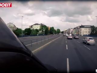 LETSDOEIT - HORNY GERMAN BLONDE SEDUCED AND FUCKED BY BUS DRIVER