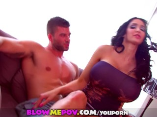 Blow Me POV - Amy Anderssen Sucks & Blows with her HUGE Tits