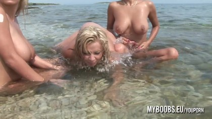 Naked chicks in public Three Busty Teens Naked On Public Beach Free Porn Videos Youporn