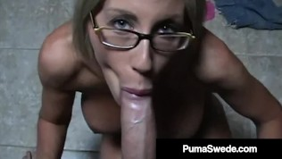Filthy Mouthed Hotness Puma Swede Blows Big Dick POV!
