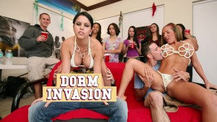 BANGBROS - College Dorm Gets Invaded By Diamond Kitty, Nikki Sexx, Alexis Fawx & Richelle Ryan