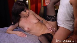 MOM Sultry Ukrainian MILF Sasha Colibri fucked in sexy stockings