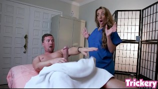 Trickery - Richelle Ryan tricked into sex with a massage client