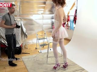 LETSDOEIT - Sexy Redhead Model Fucks Photographer On Set