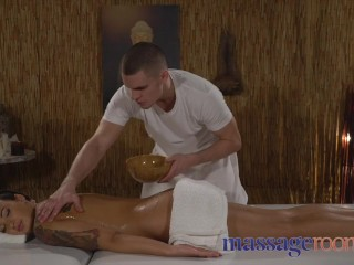 Massage Rooms Big cock for oiled and massaged tattooed Ukrainian