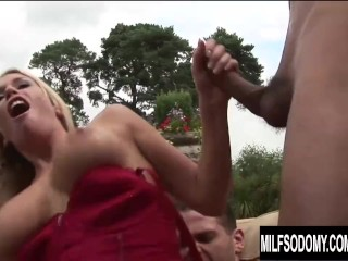 Rowdy Outdoor Anal Orgy with MILF Cumsluts Daisy Rock and Jamie Brooks