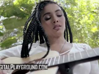 Digital Playground - Free love hippies Aaliyah Hadid & Jane Wilde love licking pussy