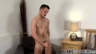 UK twink Brian Lost interviewed before masturbation