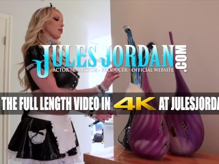 Jules Jordan - Big Boob French Maid Nikki Benz Services Mandingo's Big Black Cock
