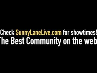 Sexy Sunny Lane & Smokin Hot Blonde Vicky Vette Fuck Outside