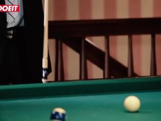 LETSDOEIT - Cute RedHead Teen Gets Creampied On Pool Table