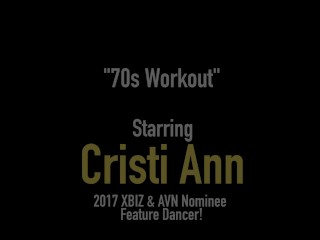 Asian Latina Cristi Ann Dildo Bangs In 80's Gym Clothes!
