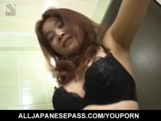 Curvy ass Mako Kamizaki tries cock down the butt hole - More at hotajp.com