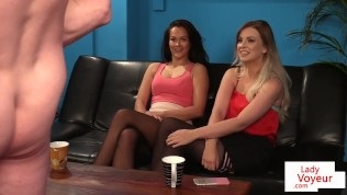CFNM femdoms instructing and filming jerkoff