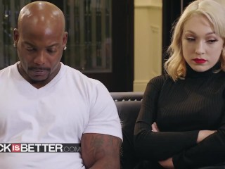 BABES - Dirty Blonde Lily Labeau craves that big black dick