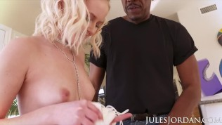 Jules Jordan – 18 Year Old Teen Natalia Queen's First Interracial