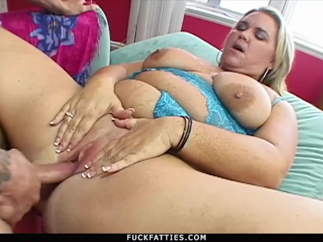 Fuckfatties - Big Blonde Woman Donna's Fat Pussy Riding Hard Cock