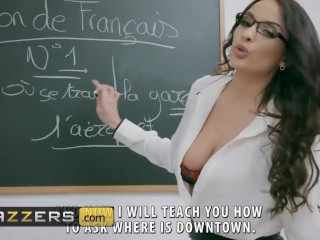 BRAZZERS - I Fucked my french teacher in the ass and filmed it POV