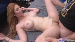 MILF Trip - Thick redhead hottie Lauren Phillips gets fat cock - Part 2