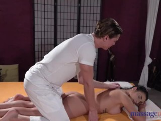 Massage Rooms Romanian beauty Nelly Kent licked fucked and given facial