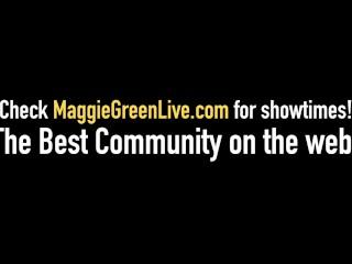 Busty Babe Maggie Green Sucks & Fucks In Threesome!