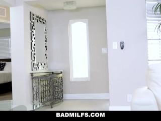 BadMILF - Horny Milf Loves Sucking Her Step Sons Cock