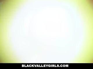 BlackValleyGirls - White Cock Fucks Sweet Black Pussy