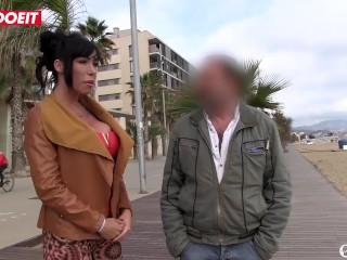LETSDOEIT – Horny PornStar Picks Up and Fucks Amateur Spanish Guy