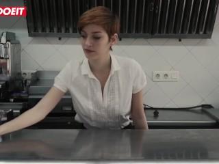 LETSDOEIT - Steak and Blowjob Day Specials In a Public Spanish Restaurant