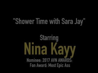Nympho Nina Kayy Finger Fucks Bubble Butt Milf Sara Jay!