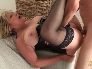 The Adult Video Experience Presents Leather MILF Alisha Rydes fucking hardcore