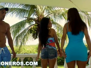 CULIONEROS - Latina Babes Samy and Angelina Get Their Big Colombian Asses Fucked