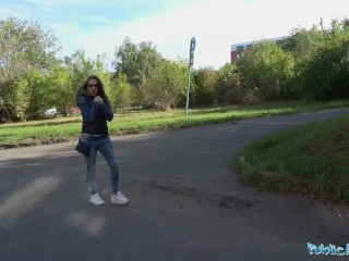 Public Agent Sexy party babe fucked by the lake by stranger