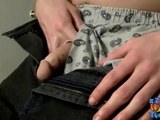 Straight amateur Nolan works hard until cum starts spraying