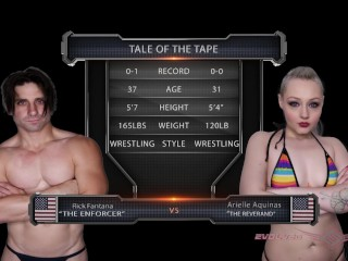 Mixed Nude Wrestling with Arielle Aquinas against Rick Fantana
