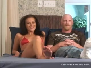 Sexy amateur couple fucking on homemade video