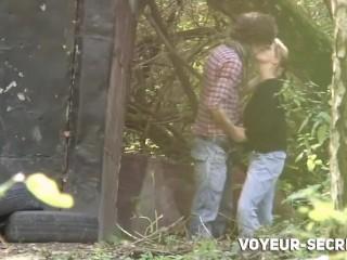 Voyeur caught teens fucking in the park