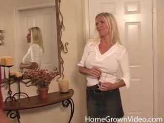 Beautiful busty blonde MILF just wanted some dick