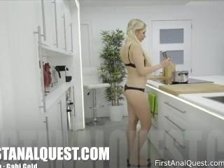Gorgeous Blonde Gabi Gold Loves Hardcore Anal Gape