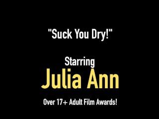 Busty U.S. Milf Julia Ann Mouth Fucks A Hard Cock POV!