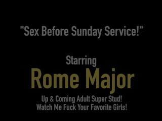 Ebony Church Fuck Flick! Rome Major Fucks Milf Brandi Foxx!