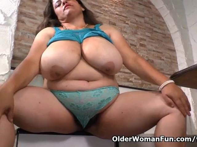 Latina Bbw Milf Rosaly Pleasures Her Hairy Pussy
