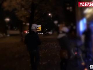 LETSDOEIT - German Teen Vanda Angel Rides A Big Cock In The Bus
