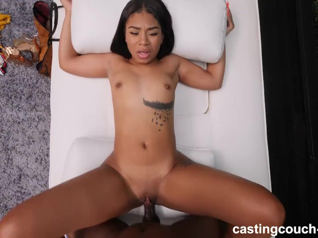 Ebony Teen Flashing Tits