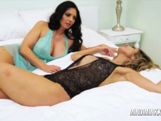Mindi Mink and Shy Love get naughty after a night out