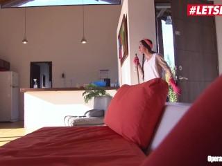 LETSDOEIT - Hot Skinny Latina Teen Maid Gets A Huge Facial At Work