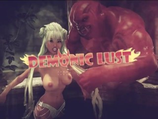 Pig Monster attacks & roughly fucks Busty 3D Hottie! Sex with Monsters 3DX