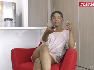 LETSDOEIT - Petite Colombian Teen Squirts On Her First Fuck With New BF
