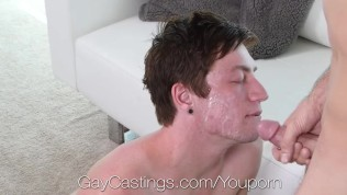 GayCastings Pale booty fucked with facial