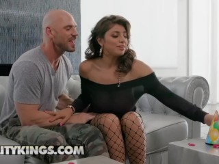 Reality Kings - Ella Knox  Giant Naturals tits worshiped by Johnny Sins